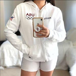 ROOTS USA Olympic Brand Sweatshirt EUC XL